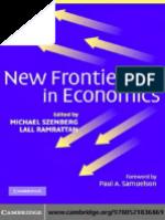 New frontiers in economics (ISBN 0521836867)